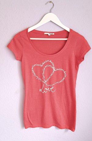 T-Shirt Rosa Lachs Herzen Love Tally Weijl Gr. M