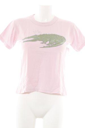 T-Shirt rosa Motivdruck Casual-Look