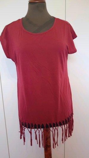 T-shirt rot Fransen 38 Gina