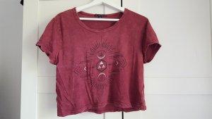 T-Shirt rot mit Maserung