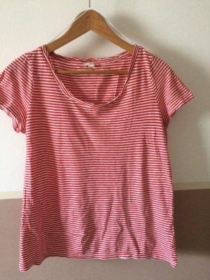 T-Shirt rot-weiß gestreift