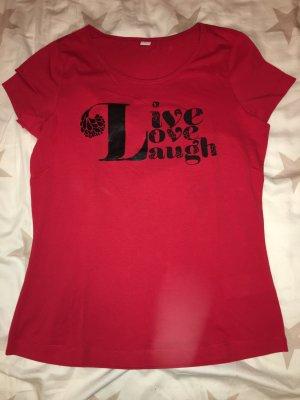 T-Shirt S.Oliver rot, schwarz in Größe 38