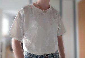T-shirt Satin cropped