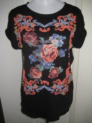T Shirt schwarz bunt #Zara Gr M/L