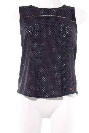 T-Shirt schwarz-dunkelgrau Casual-Look