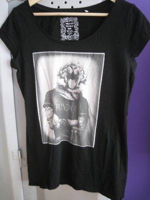 """T-Shirt Schwarz mit Druck """"Pussycat"""" Gr.38"""