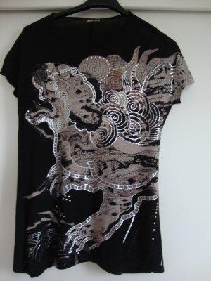 T-Shirt schwarz mit Glitzer 1x getragen WIE NEU!!!