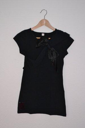 T-Shirt schwarz mit großer Schleife