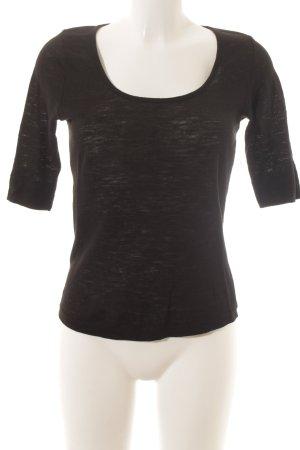 T-Shirt schwarz schlichter Stil