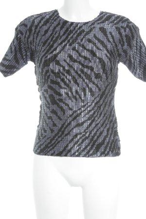 T-Shirt schwarz-stahlblau Casual-Look