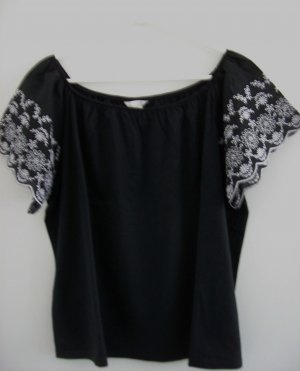 H&M Carmen Shirt black-white