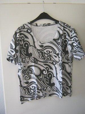 T-Shirt schwarz - weiß
