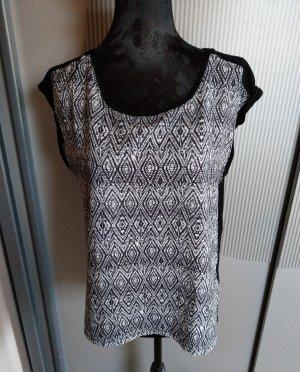 T-Shirt schwarz weiß Reserved