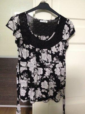 T-Shirt schwarz-weiß von Promod
