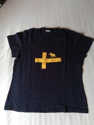 T-Shirt, Schweden, blau-gelb, Elch