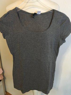 T-Shirt Shirt Basic anthrazit grau Gr. 34