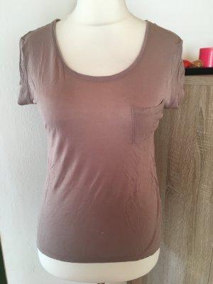 T-Shirt Shirt Basic beige hellbraun Gr. M