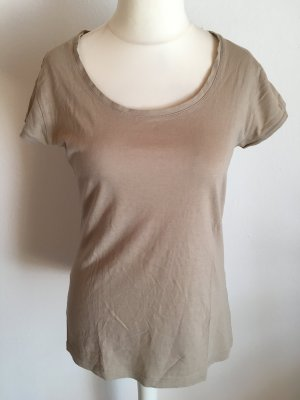 T-Shirt Shirt Basic beige Rundhals Gr. L TOP