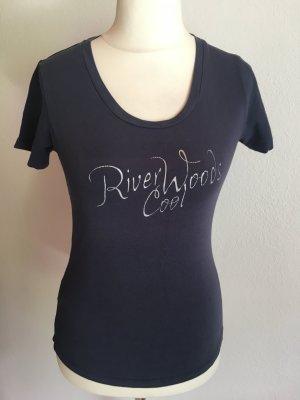 T-Shirt Shirt Basic dunkelblau mit Logo