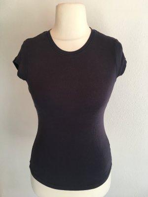 T-Shirt Shirt Basic dunkelblau Rundhals Gr. S 100% Baumwolle