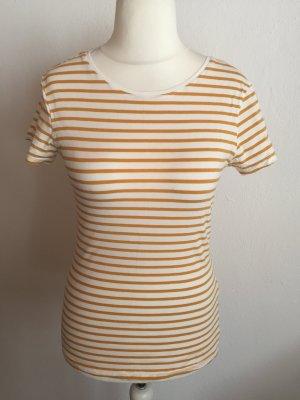 T-Shirt Shirt Basic gestreift senf weiß Gr. 40