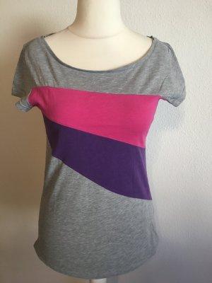 T-Shirt Shirt Basic grau bunt Sublevel Gr. L