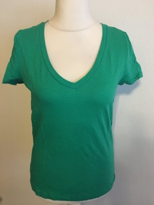 T-Shirt Shirt Basic grün V-Neck Gr. M Tommy Hilfiger