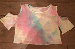 T-Shirt Shirt Batik Crop Top Festival Hippie Größe S 36/38