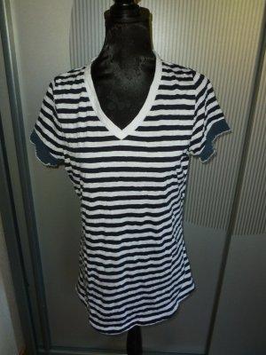 T-Shirt Shirt blau weiß c.a.r.o.