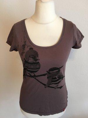 T-Shirt Shirt braun mit Print süss von edc Gr. M
