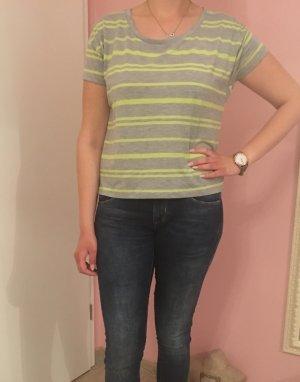 T-Shirt Shirt grau gelb