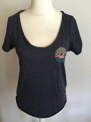 T-Shirt Shirt locker dunkelgrau Gr. S Hollister