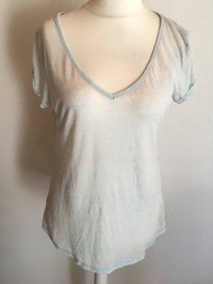 T-Shirt Shirt locker leicht hellblau Basic Gr. M