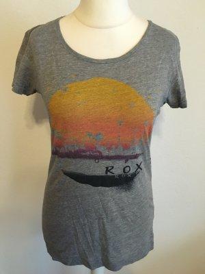 T-Shirt Shirt Longshirt grau mit Print von Roxy TOP