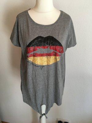 T-Shirt Shirt mit Print locker oversized Deutschland Gr. L/XL