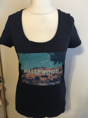 T-Shirt Shirt mit Print Tommy Hilfiger dunkelblau Gr. M
