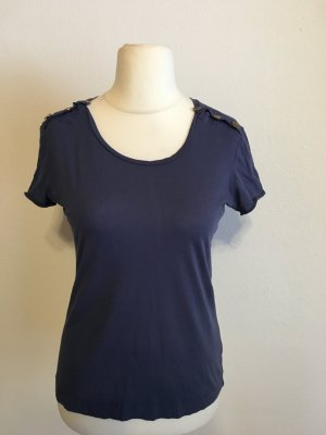 T-Shirt Shirt Oberteil Basic leicht blau Maritim von Mango