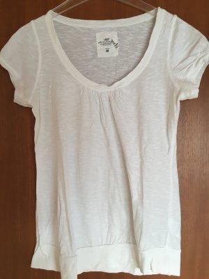 T-Shirt Shirt Oberteil Basic weiß Gr. M