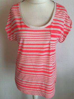 T-Shirt Shirt Oberteil locker oversized gestreift meliert Tommy Hilfiger Gr. L