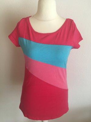 T-Shirt Shirt Oberteil pink bunt von Sublevel Gr. L TOP