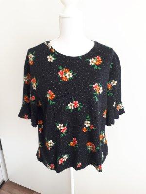T-Shirt Shirt Rüschen Blumen