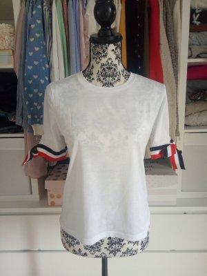 T-Shirt Shirt Schleife Basic Weiß L M 38 Weiß Rot Blogger