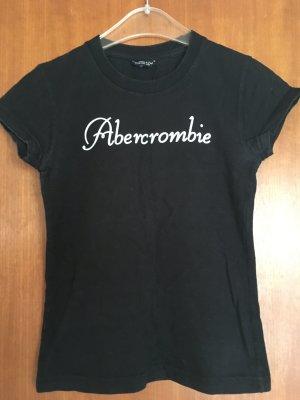 T-Shirt Shirt Schwarz Basic Abercrombie Gr. 36