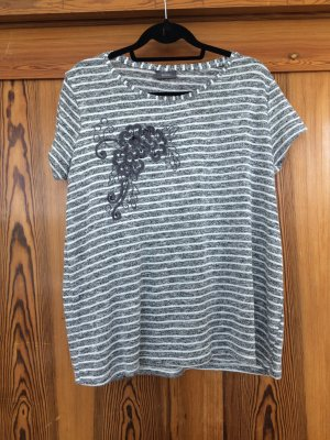 Yessica Oversized shirt grijs-wit