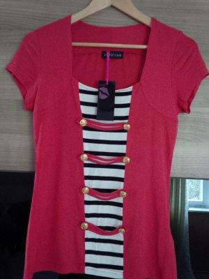 T-Shirt Shirt Top Matrosen Marine rot gold schwarz Melrose
