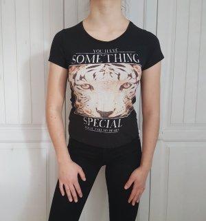 T-Shirt Shirt tshirt schwarz tiger crop top croptop S Oberteil hemd Bluse pulli pullover