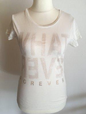 T-Shirt Shirt weiß mit Motiv Statement Gr. S