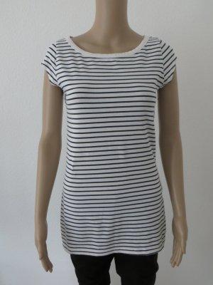 T-Shirt, Shirt, Weiß, Schwarz, gestreift