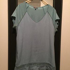 T-Shirt Street one aqua/mintgrün - Gr. 44 - mit V-Ausschnitt - legerer Schnitt