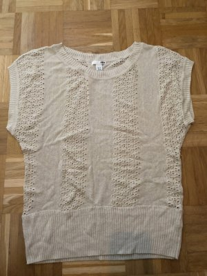 H&M Knitted Top oatmeal-white